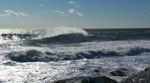 Winter Ocean Waves After Cold Front