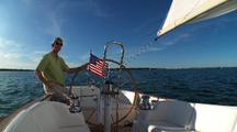 Onboard Sailing Looking Aft, Wide Angle