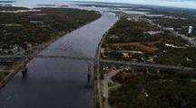 Cape Cod Cannel Bridge From Above