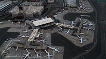 Logan Airport Terminal From Above