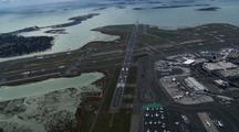 Logan Airport Terminal From Above Showing Islands