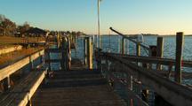 Sunrise On Intercostal Waterway With Docks