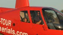 Little Girl Flies In Helicopter For First Time With Her Mom