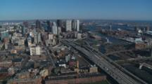 Fly Over Rt 93 Into Boston