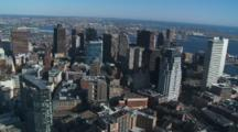 Fly Over Downtown Boston