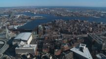 Fly Over Downtown Boston And Backbay