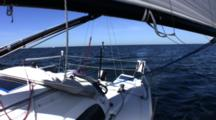 Sailing Down Wind Single Handed Looking Aft