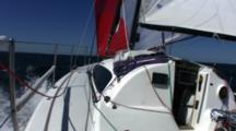 Sailing Down Wind Single Handed Fast Looking Forward