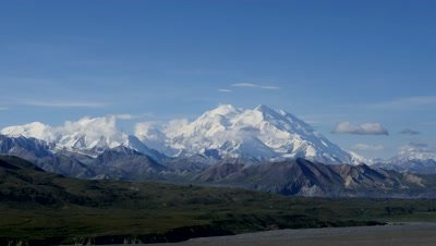 Denali,Mount McKinley on a fine day.