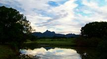 Mt Warning-Wollumbin Dusk Time Lapse Over Roux River