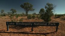 Lake Bindegolly National Park - Sign