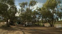 Camping Next To Outback Water Hole