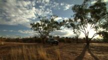 Truck Parked Near Outback Sand Dunes
