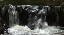 Close Up Cascading Waterfall In Australian Rainforest
