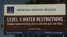 Sign advertising drought water restrictions