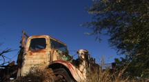 Old Truck Around Ghost Town In The Middle Of Nowhere