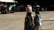 Indigenous Ladies Carrying Art Crafts Meet In Park