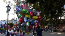 Park Scene, Colorful Balloons, Oaxaca, Mexico