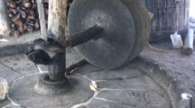 Fabrication Of Mezcal-Stone Crusher Of Agave