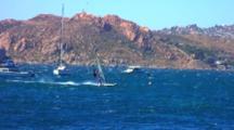 Windsurfer Flies Across Bay, Central Chile, La Herradura
