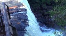 Zm, Pullback, Tilt Down, Cataratas Iguazu, Brazil, Arg.