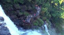 Zm, Pullback, Tilt Down To People, Cataratas Iguazu, Brazil, Arg.