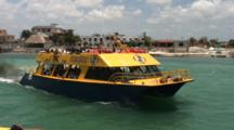 Ferry Leaves Pto. Juarez With Load Of Tourists For Isla Mujeres--Quintana Roo, Mexico