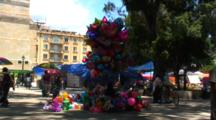 Plaza Central, Oaxaca, Mx, Zm, Pullback Colorful Balloons