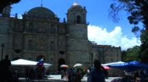 Plaza Central, Oaxaca, Mx, Main Cathedral, Pan Park And People