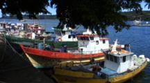 Waterfront, Dalcahue, Isla Grande De Chiloe-Zoom To Kelp Fishing Boat