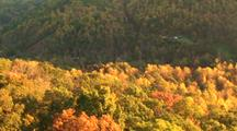 Aerial, fall colors, Mountains, Smoky Mountains, Appalachain Mountains, fall, colors, trees