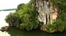 Aerial, Along Cliffs, Los Haitises, Dominican Republic