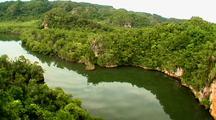 Aerial, Turn Over Ridge, Los Haitises, Dominican Republic