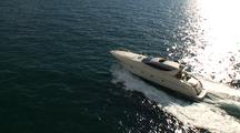 Aerial Of Sleek Italian Yacht
