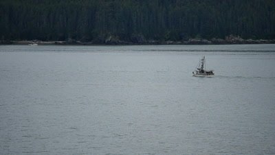 Fishing boat plying Alaskan Waters