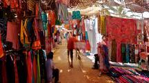 Moving Camera Inside A Passageway In Anjuna Market