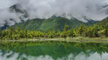 Clouds Reflected In Pisang Lake, Nepal