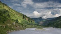 Himalayan Clouds Above Tatopani Valley
