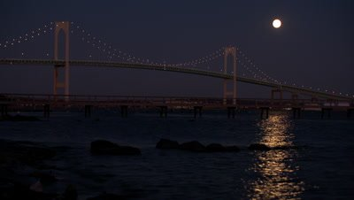 Newport Bridge Supermoon