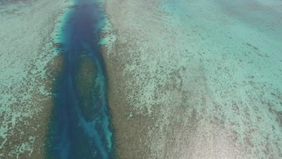 Drone aerial of Ulong Channel in Palau