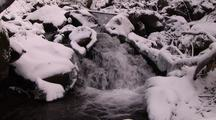 Winter Stream With Snow And Ice  013