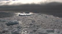 Cruising Through Brash Ice And Fog Antarctica