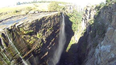 Aerial above Magwa Falls