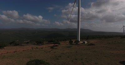wind turbine by drone