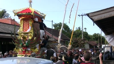 Hindu/Balinese cremation ceremony in Amed,Bali