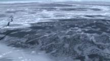 Aerial View Of The Sea Ice On Antarctica Breaking Up