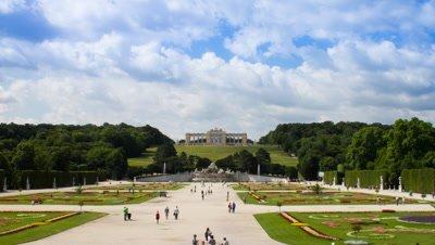 Time lapse of the garden at Schonbrunn castle, Vienna