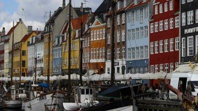 Timelapse view of downtown Copenhagen