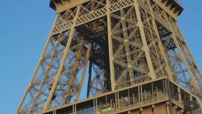 Timelapse of the Eiffel Tower, next to the river Seine