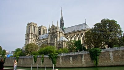 Notre Dame cathedral in Paris before the big fire of 2019